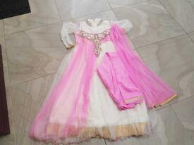 Girls Pink Indian Dress