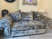 Large Chesterfield crush velvet sofa