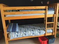 Solid quality pine bunk beds, from Marks and Spencers £300 new.