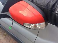 Volvo C30 left wing mirror red shell only
