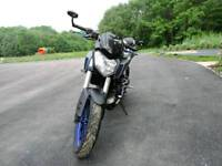 Yamaha mt 125, low milage, akropovic exhaust, carbon fiber rear mud guard and other extras
