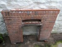 Old Brick fireplace perfect for upcycling