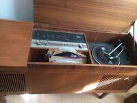 Classic Vinyl Record Player & Speakers