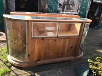 Solid pine shop display cabinets