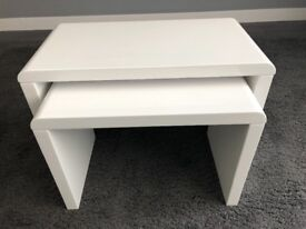 High Gloss White Side Tables