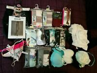 Job lot of women's lingerie knickers bras tights thongs and more