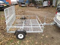 AS NEW FULLY GALVANISED 5X5 GOODS / TRANSPORTER TRAILER WITH RAMPTAIL...