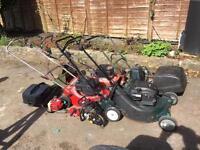 job lojob lot of lawn mowers for spares or repairs