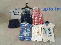 Bundle of baby boy clothes size: up to 1month