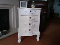 Pretty French style 4 drawer cabinet in Plymouth