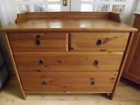 Ikea Leksvik solid wood Chest of drawers.