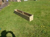 Large wooden garden planter ..Decking boards...6ft long