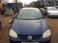vw golf mk5 1.9 tdi *bxc* breaking for spares and repairs auto dsg call parts