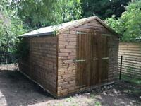 14ft x 8ft Apex Shed, garage, Workshop, very heavy duty, delivery & installation