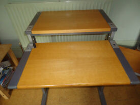 A split level and adjustable computer table made by ISKU (Sweden)