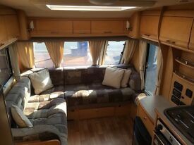 Elddis Crusader Supercyclone 2008, 4 berth incl. fixed single beds, motormover, Fiamma sun canopy