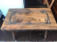 Unusual carved top coffee table FREE DELIVERY PLYMOUTH AREA