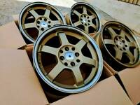 "Brand new 15"" Grid style alloy wheels 4x100 4x114.3"