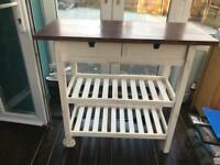 Ikea upcycled Birch kitcen trolley