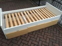 IKEA Single Bed with Three large Drawers - Quick Sale