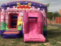 commercial princess bouncy castle with blower