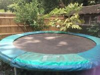 8 year old 10ft round trampoline FREE. No safety net, does have a ladder, in good good condition.