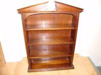 Display shelves unit Cabinet maker made Mahogany