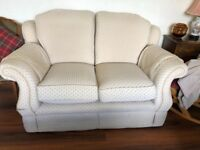 Two, two seater sofa set with armchair