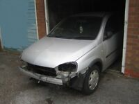 Spares (ALL PARTS AVAILABLE) 2001 Vauxhall Corsa C 1.0 Club (40k Miles) 3-Door 5-Speed Petrol Silver