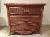 Vintage Cane Chest of 3 drawers