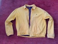 Ralph Lauren Polo Harrington style Winter jacket.Large. Yellow with Red tartan lining.