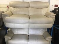 NEW / EX DISPLAY Leather LazyBoy Manning 3 + 3 Seater Electric Recliner Sofas