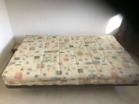 "Double Slumberland Sofa Bed for sale 4"" 6"" x 6"" 3"" with folding box spring mattress hardly used"