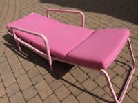 Jaybe pink chair-bed for home or bedroom