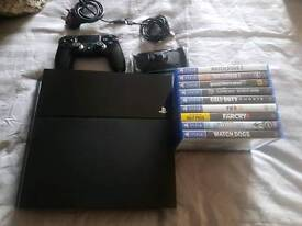 Black' Playstation4 500GB UK CONSOLE + 9 games