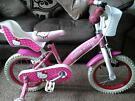 "Girls Hello Kitty 14"" Bike with Stabilisers"