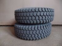 Full set of new 4 tyers 300x4 monility scooter pneumatic tyres. 2x front ribbed, 2x rear block