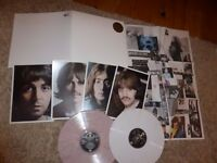 "THE BEATLES VERY RARE MULTI WHITE VINYL -"" THE WHITE ALBUM""-ALL PHOTOS/POSTER-MINT UNPLAYED"