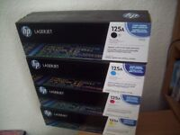 HP 125A SET: Black (CB540A),Cyan (CB541A), Yellow (CB542A), Magenta (CB543A