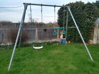 Metal TP swing frame with swing and trapeze bar