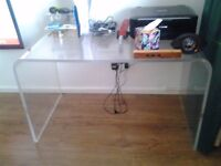 modern acrylic perspex computer table