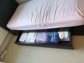 Single Drawer Divan bed Leather effect
