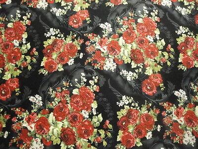 Lg. Rote Rosen Sträusse Warf auf Schwarz B / G-Bty-Roses-Bouquet