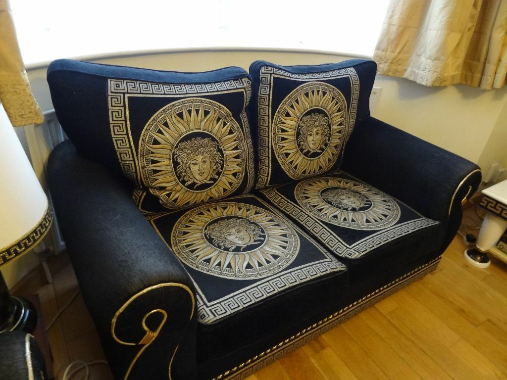 Versace sofa set epixilon neoclical furniture sofa set Versace sofa