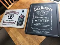 Pair of JACK DANIELS retro vintage metal signs for kitchen man cave bedroom