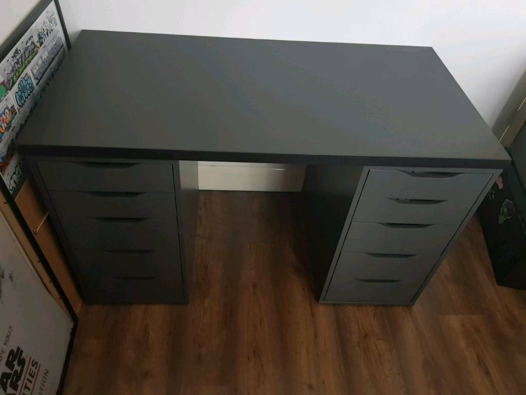 Ikea alex linnmon desk with two sets of draws in southampton