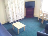 Furnished, self contained, 1 double bedroom flat in residential area, own secure parking.