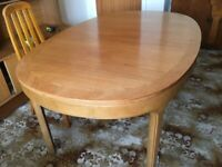 Dining room table complete with chairs