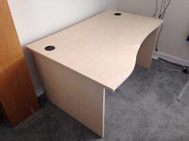 Office / study desk - Light Oak. Excellent Condition
