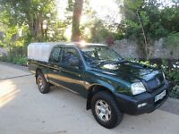 Mitsubishi L200 super cab in great condition, 1 year MOT, Ivor Williams Canopy, DAB Digital Radio